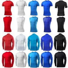 Mens Compression Armour Base Layer Top Long/Short Sleeve Shirt Thermal Gym Vest