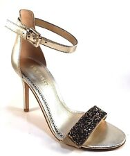 Nine West Mana Leather High Heel Dressy Ankle Strap Sandals Choose Sz/Color