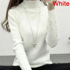 Women Turtleneck Winter Sweater Long Sleeve Knitted Sweater Pullovers Jumper Top