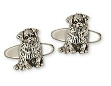 Tibetan Spaniel Cufflinks Handmade Sterling Silver Dog Jewelry Ts3-Cl
