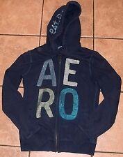 AEROPOSTALE~BLUE HOODIE Jacket~MEDIUM~NEW~Full ZIP~SPARKLE Sweatshirt