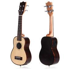 """21"""" 15 Frets Electro-Acoustic Soprano Ukulele Uku Hawaiian Guitar w/ EQ Pickup"""