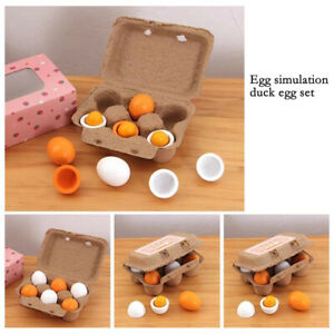1Set Wooden Eggs Toy Pretend Play Food Toy Kid Educational Toy for Boys