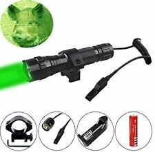 Green LED Coyote Hog Pig Varmint Predator Hunting Flashlight with Remote + Mount