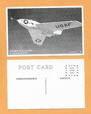 NORTHROP X4 US AIR FORCE EXCEEDS SPEED OF SOUND POSTCARD 3 1/2 X 5 1/2
