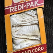 """Vtg Redi-Pak Tape & Cord Venetian Slat Blind 2"""" White Ladder Tape Plastic Tassel"""