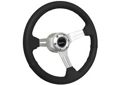 1969 - 1985 Chevy Nova Black Sport Steering Wheel Brushed Kit, Hub & Emblem
