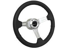 1967 - 1968 Chevy II Nova Black Sport Steering Wheel Brushed Kit, Hub & Emblem