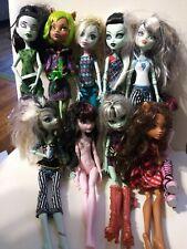 Lot 10 Monster High Girl Dolls Mattel