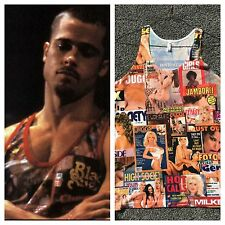 Tyler Durden Fight Club Rare Black Sugar TAnk Top Brad Pitt Hustler Op 523 LARGE