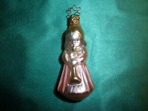 ~ Inge Glas® Christbaumschmuck Glas Engel rosa gold pastell Weihnachtskugel ~