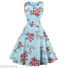 Zaful Womens 50s Swing Vintage Retro Pinup Rockabilly Evening Party Dress Plus