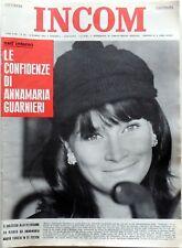 rivista settimanale politica INCOM N.10 1964 ANNAMARIA GUARNIERI  LOREN TENCO