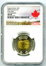 2020 CANADA $2 POLAR BEAR NGC MS68 FIRST RELEASES CLASSIC SET TOONIE - EX RARE