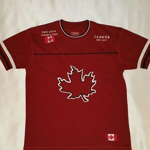 Canada Athletics Men's Red Hockey Jersey Size Medium