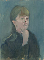 Eric Rolfe - Contemporary Oil, Portrait of a Woman