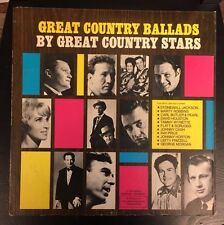 V/A Great Country Ballads By Great Country Stars LP Vinyl Folk Columbia DS 518