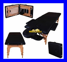 BLACK CHARBURY PORTABLE MASSAGE TABLE COUCH BEAUTY THERAPY BED REIKI
