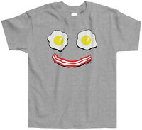 Threadrock Kids Bacon and Eggs Smiley Face Toddler T-shirt Cute Food Eat