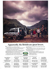 1997 Land Rover Discovery British Original Advertisement Car Print Ad J368