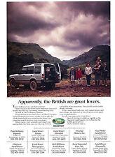1997 Land Rover Discovery British Original Advertisement Car Print Ad J368