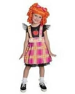 Girls Lalaloopsy Bea Spells Alot Dress & Wig 2 Pc Halloween Costume-size 4/6