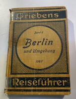 Griebens Reiseführer Berlin und Umgebung 64. Auflage 1927 Band 6