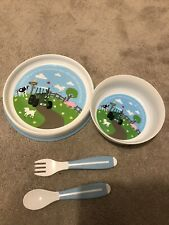 Tractor Ted Children Kids Play Bowl, Plate And Cutlery.