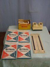 Vintage: stéréoscope Bruguière (Stéréoclic Junior 3 dimensions) + 5 stéréocartes
