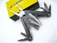 LEATHERMAN Stainless WINGMAN Multi-Tool Plier Knife Wire CUTTER + Sheath! 831614