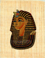 **Rare** Genuine Hand Painted Authentic Egyptian Papyrus (King Tut Mask-Black)