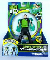 Ben 10 Transforming Ben-to-Diamondhead Figure, 7 inch, New