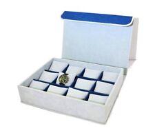 Astuccio orologi, custodia cassetta cuscini scatola 12 orologi