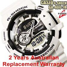 CASIO G-SHOCK MEN WATCH GA-400-7A WHITE x BLACK GA-400-7ADR 2-YEARS WARRANTY