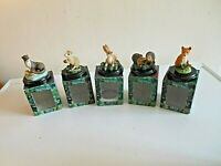 COLLECT IT LOT OF 5 FOREST FRIENDS COLLECTIBLES-RABBIT-OTTER-MOUSE-HEDGEHOG-FOX