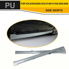 2PCs Grey PU Side Skirts Bodykit Apron fit for Volkswagen VW Golf 4 IV MK4 03-05