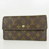 Auth LOUIS VUITTON M61217 Monogram International Bifold Long Wallet 16670bkac