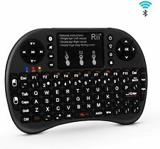 (Upgraded) Rii i8+ Mini Bluetooth Keyboard with Touchpad&QWERTY Keyboard, Backli