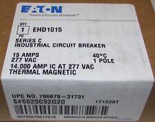 Eaton Cutler Hammer Type EHD Circuit Breaker 15 Amp Single Pole EHD1015