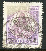 UNGARN 1923 Patrona Hungariae 1000 Kr violett/lilabraun gest. Pra.-Stück ABART