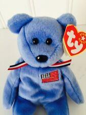 ~AMERICA the 9/11 Red Cross Bear TY BEANIE BABY Babies RT NWT