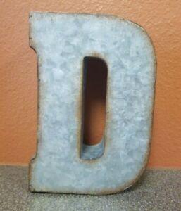 "Galvanized Rustic Metal Letter D  7""- HOBBY LOBBY Industrial Farm House Wall Art"