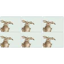 Pimpernel Wrendale Hare Placemats Set of 6 Blue Cute Animals Table Mats Dining