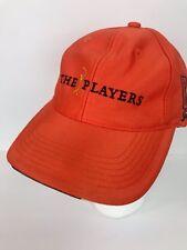 The Players Club Tpc Sawgrass Baseball Hat Golf Cap Orange Adjustable Back