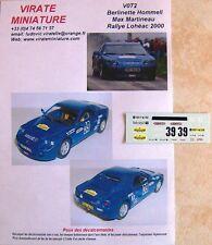 V072 Berlinette Hommell Echappement Rallye de Loheac 2000 Max Martineau Virate