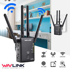 Wavlink AC1200 Dual Band Wifi Repeater Router Wireless Extender Signal EU  AA
