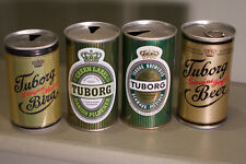 Four Tuborg cans - Denmark and Turkey - all different!
