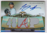 2011 Topps Triple Threads Gold #132 Tommy Hanson Auto Jersey 6/25