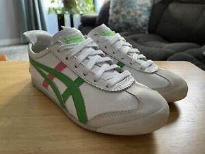 ASICS Onitsuka Tiger HL474 Leather Women's White Green Pink Size US 6