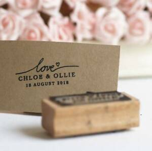 Love - personalised Wedding favours rubber stamp